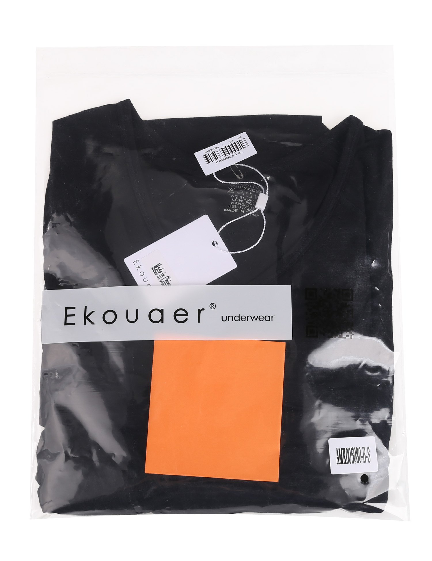 Ekouaer Women Thermal Underwear Set Solid V-Neck Long Sleeve Top and Long Pants Bottom Sleepwear by Ekouaer (Image #6)