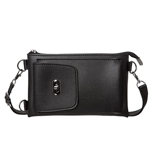 670d15eb50 ... ZOVIE Small Crossbody Bag Women Synthetic Leather Cell Phone Crossbody  Wallet Purse(Black) picked ...