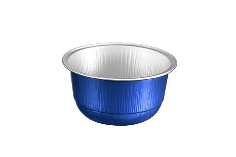 Caja de la magdalena hornear desechables - lata (azul oscuro)