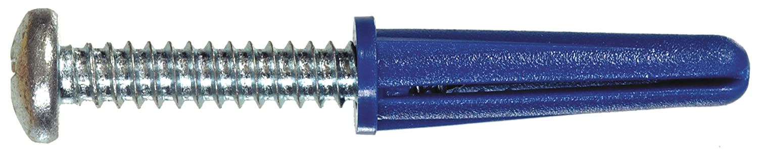 The Hillman Group 5063 Blue Ribbed Plastic Anchors