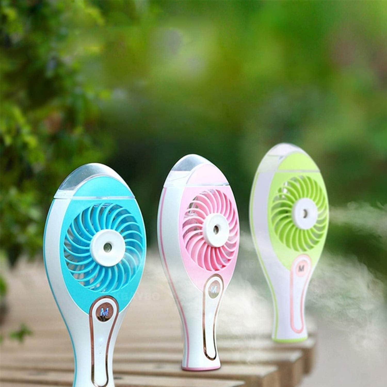 Color : Sky Blue Air Cooler Portable USB Fan Cooler Mini Handy Small Cooling Fan Desk Pocket Fan Cooling Air