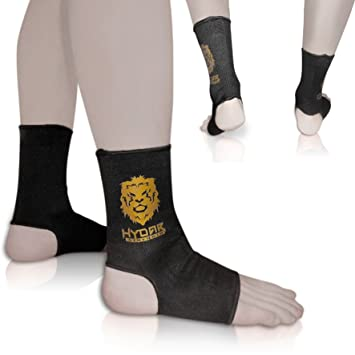2 mangas de compresión Hydar para tobillos, apoyo cómodo para los esguinces de tobillo y la fatiga muscular, de alta calidad, permiten la movilidad, unisex, con tratamiento para la fascitis plantar, a