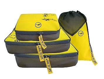 nouvelles photos 52cc8 8153d Bag to Life Lufthansa Easy Packing 4 pièces kleidertaschen ...