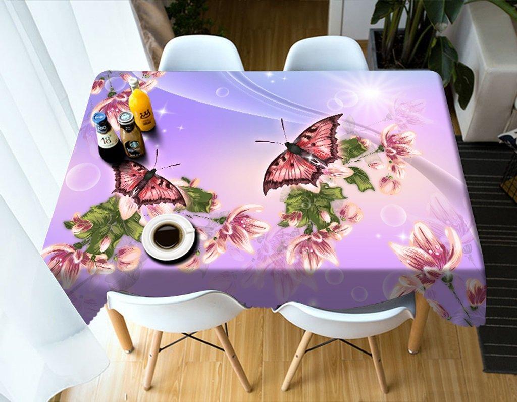 LWF Europäische Tischdecke Rechteckige Tischdecke - 3D personalisierte Tischdecke PG0020 - umweltfreundlich und geschmacklos - Digitaldruck wasserdicht (größe   Round 274cm) B07D5YPRW6 TischdeckenNeuer Stil   Große Auswahl