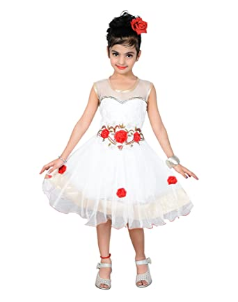 8cfe6bd63 P R Enterprises 3 To 4 Yr Kids Girls White Frock, baby frocks, frocks for