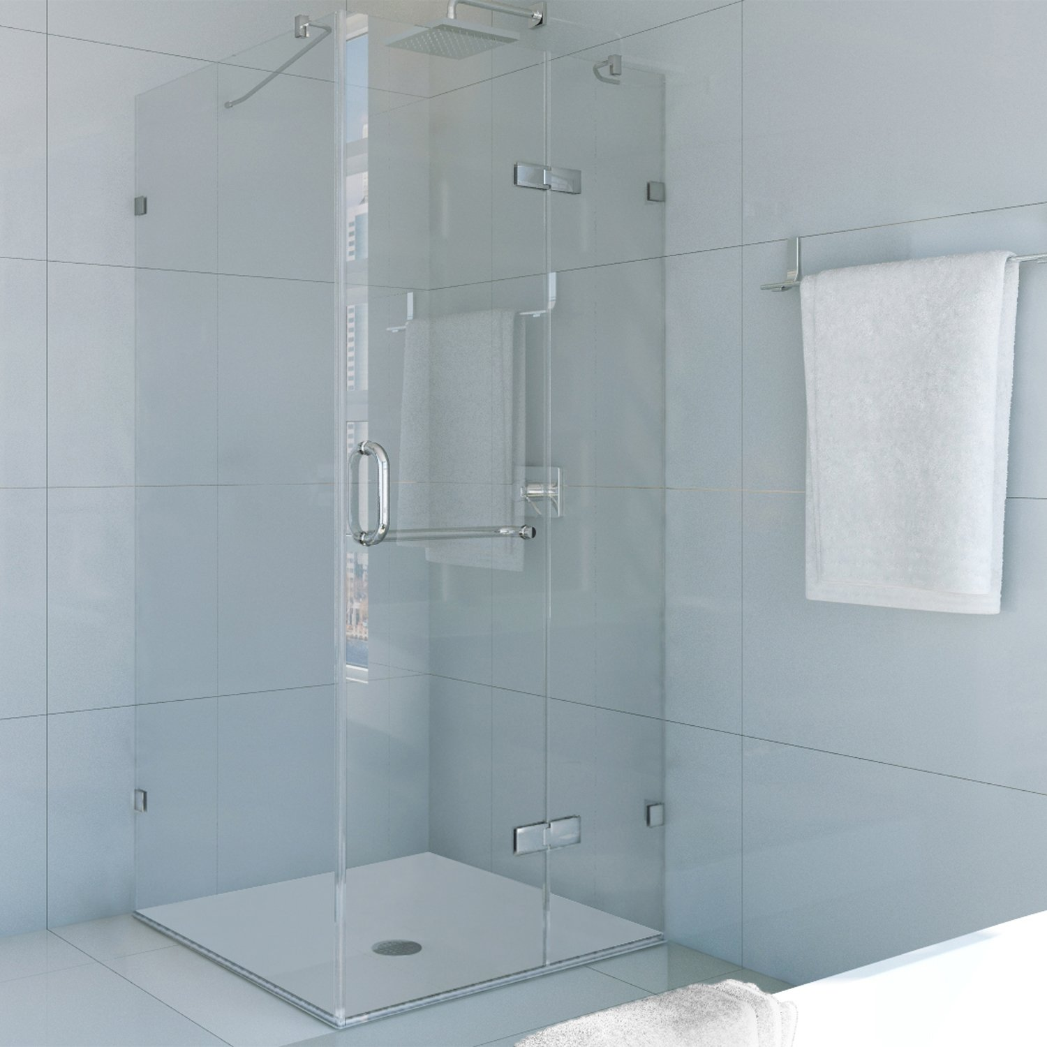 Frameless Shower Enclosure with .375-in. Clear Glass and Chrome Hardware - One Piece Tub And Shower Enclosures - Amazon.com & VIGO Monteray 36 x 36-in. Frameless Shower Enclosure with .375-in ... Pezcame.Com
