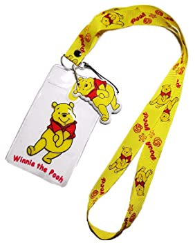 Disney de Winnie the Pooh amarillo cordón w/ID Holder y ...