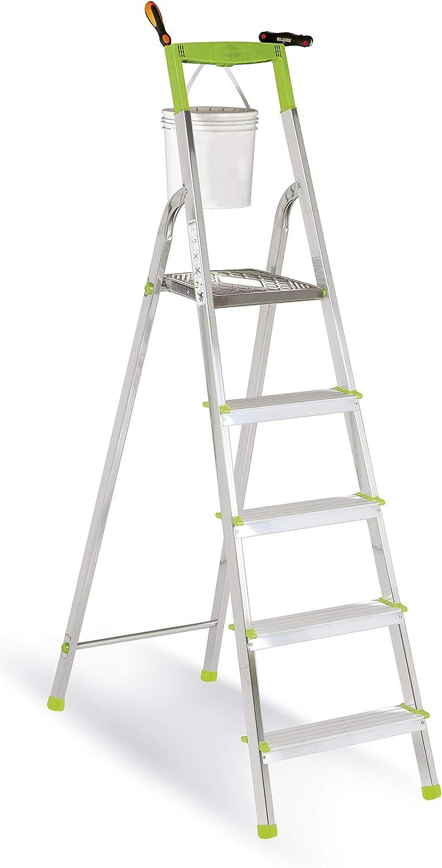 Casabriko Aluminium Ladder for Home Use Green, Aluminium, Green, 106 cm