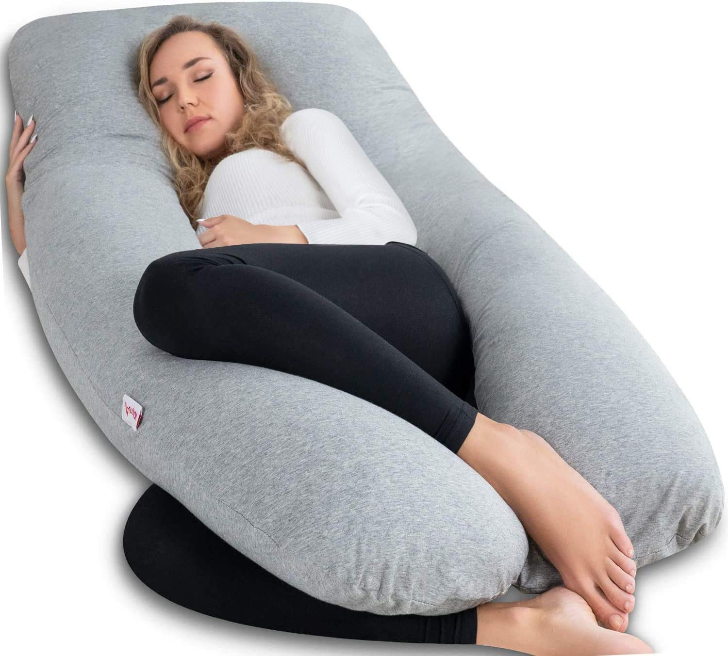 Amazon.com: AngQi Pregnancy Pillow with Jersey Cover, U Shaped