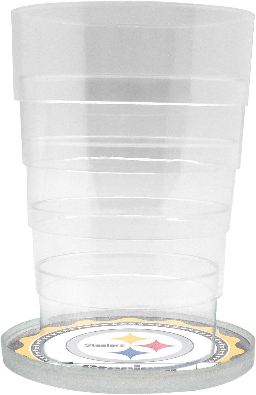 NFL Pittsburgh Steelers Glass Drink Dispenser / Sun Tea Jar, 5 Liter