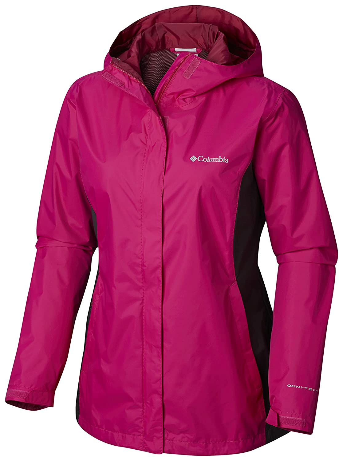 Columbia Womens Plus Size Arcadia II Jacket, Haute Pink/Shark X-Large