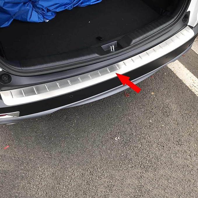 Steel Outer Rear Bumper Protector Sill Trim 1pcs For Honda CR-V CRV 2017-2019