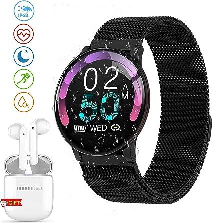 GOWIN Smartwatch, Reloj Inteligente y Auriculares Bluetooth, IP68 ...