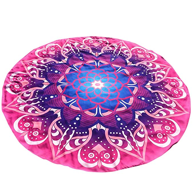 Amazon.com: Salaks Beach Towel Blanket Round Printing Hippie Tapestry Beach Picnic Throw Yoga Mat: Clothing