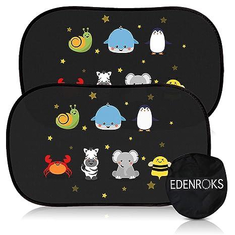 Edenroks - Cortinas parasol de coche para niños - seguras - Se ...