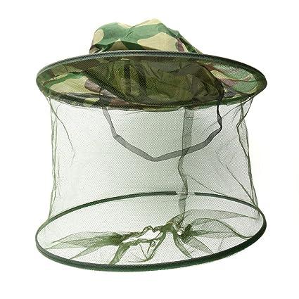BESTOMZ Mosquitera para la cabeza Protector Cabeza Mosquitera Abeja  Insectos Repelente Malla (camuflaje) 87412048a7e