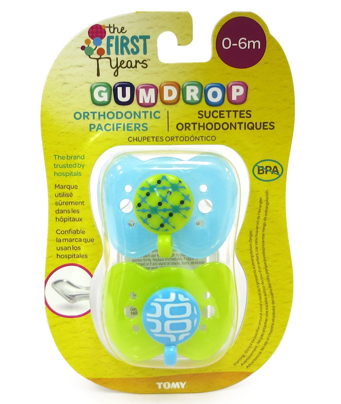 The First Years Gumdrop Orthodontic Pacifier - 0-6 Months