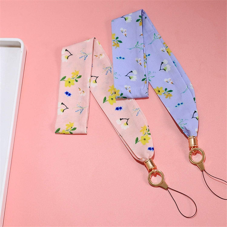Cute Phone Lanyard for Keys Neck Keychain Lanyard Id Badge Key PhoStrap Card Correa Llaves De para Cuello Tarjeta Rope,Yellow//Gold