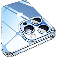 Elando Crystal Clear Case Compatible with iPhone 13 Pro Case, Non-Yellowing Protective Shockproof Slim Thin Phone Case…