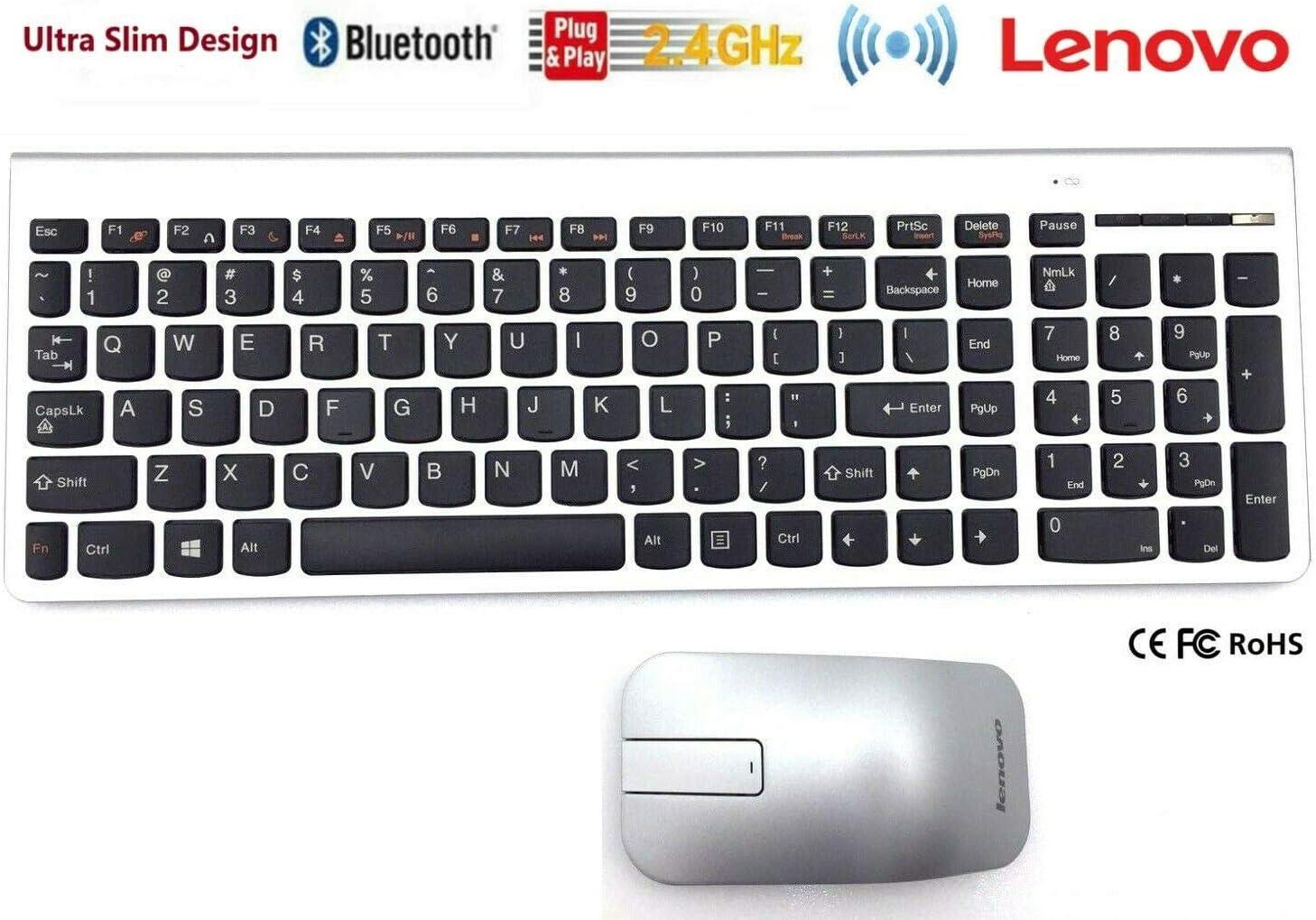 for IBM for Lenovo Desktop PC Computer Wireless Keyboard /& Mouse Set Slim Kit UK English