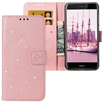 huawei p8 lite 2017 coque portefeuille rose