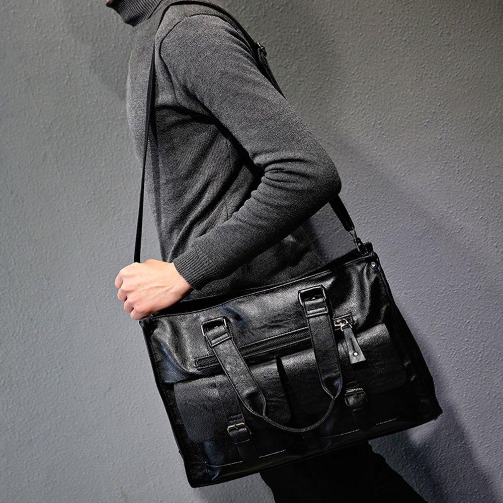 Color : Black Amyannie Bag for Travel Men Business Handbag Horizontal Version High Capacity Luggage Shopping Carry Bag Black Travel Bag