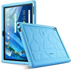 Lenovo Moto Tab Case, Poetic TurtleSkin Series [Corner/Bumper Protection][Grip][[Bottom Air Vents] Protective Silicone Case for Lenovo Moto Tab (X704A)/Lenovo Tab 4 10 Plus Tablet - Blue