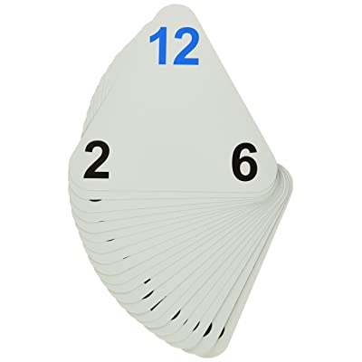 "Learning Advantage 4552 The Original Triangle Flash Cards, Multiplication and Division, Grade: 2 to 6, 6.5"" Height, 1.25"" Width, 6.25"" Length: Industrial & Scientific"