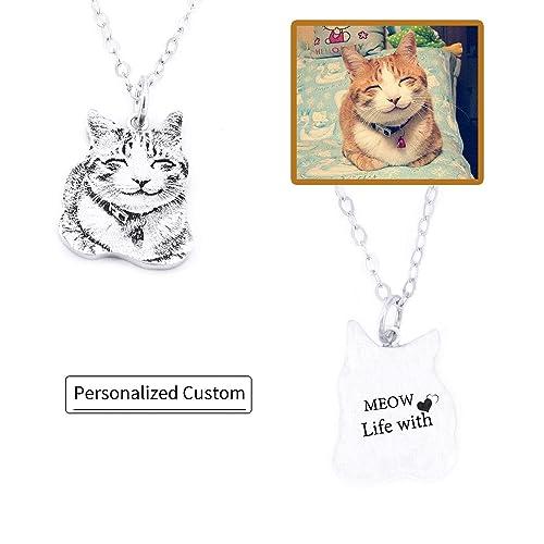 Amazon.com: hacool foto personalizada collar colgante ...