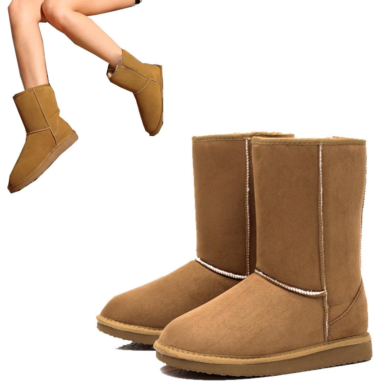 ZEARO Damen Schlupfstiefel | Bequeme Klassiche Stiefeletten | Hidden Wedges  Boots Wildlederoptik: Amazon.de: Schuhe & Handtaschen