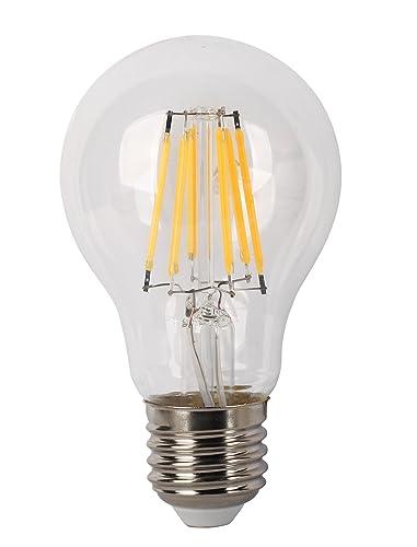 LYO Bombilla LED E27, 6 W, gris - transparente