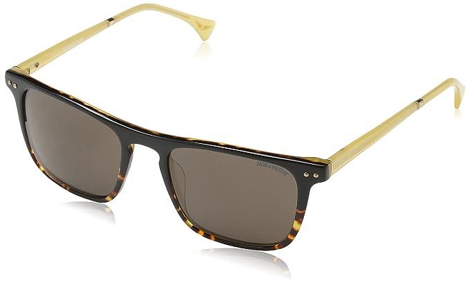 Zadig & Voltaire Damen Sonnenbrille Szv063, Braun (Black Gradient Shiny Havana), Einheitsgröße