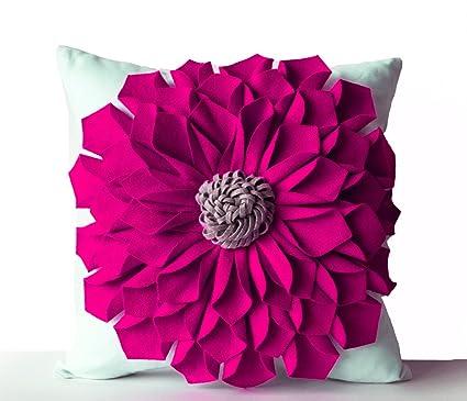 Amazon Amore Beaute Decorative Pillow Case Felt Flower Pillow
