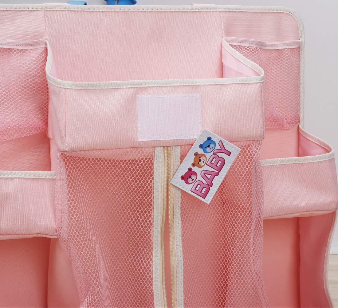 Sunzit Babybett Tasche H/ängende Aufbewahrungstasche Windel Spielzeug Kleidung Betttasche Kinderwagen Buggy Dekor Blau H/ängender Organizer Kinderzimmer