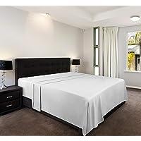 Utopia Bedding Sábana Encimera - Microfibra Cepillada - (Blanco, Cama 150, 266 x 259 cm)