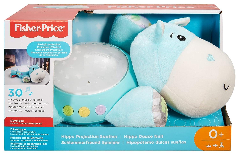 Fisher-Price CGN86 Nilpferd Schlummerlicht Spieluhr Nachtlicht mit Sternenlicht
