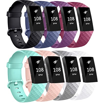 AK Bands Compatible with Fitbit Charge 3 Bands, Sports Replacement  Wristbands for Fitbit Charge 3/Fitbit Charge 3 Special Edition Women Men,  Small