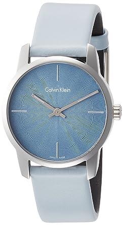 Calvin Klein Reloj Analogico para Mujer de Cuarzo con Correa en Cuero K2G231VN: Amazon.es: Relojes