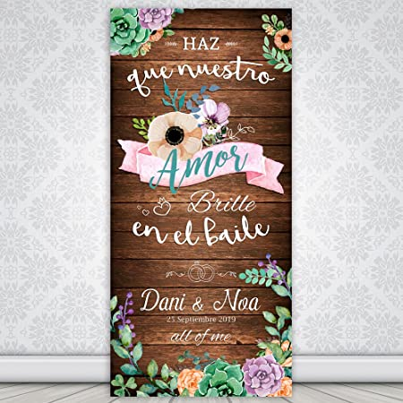 Decoración Boda | Cartel Boda Brille | 70cm x 150cm: Amazon ...