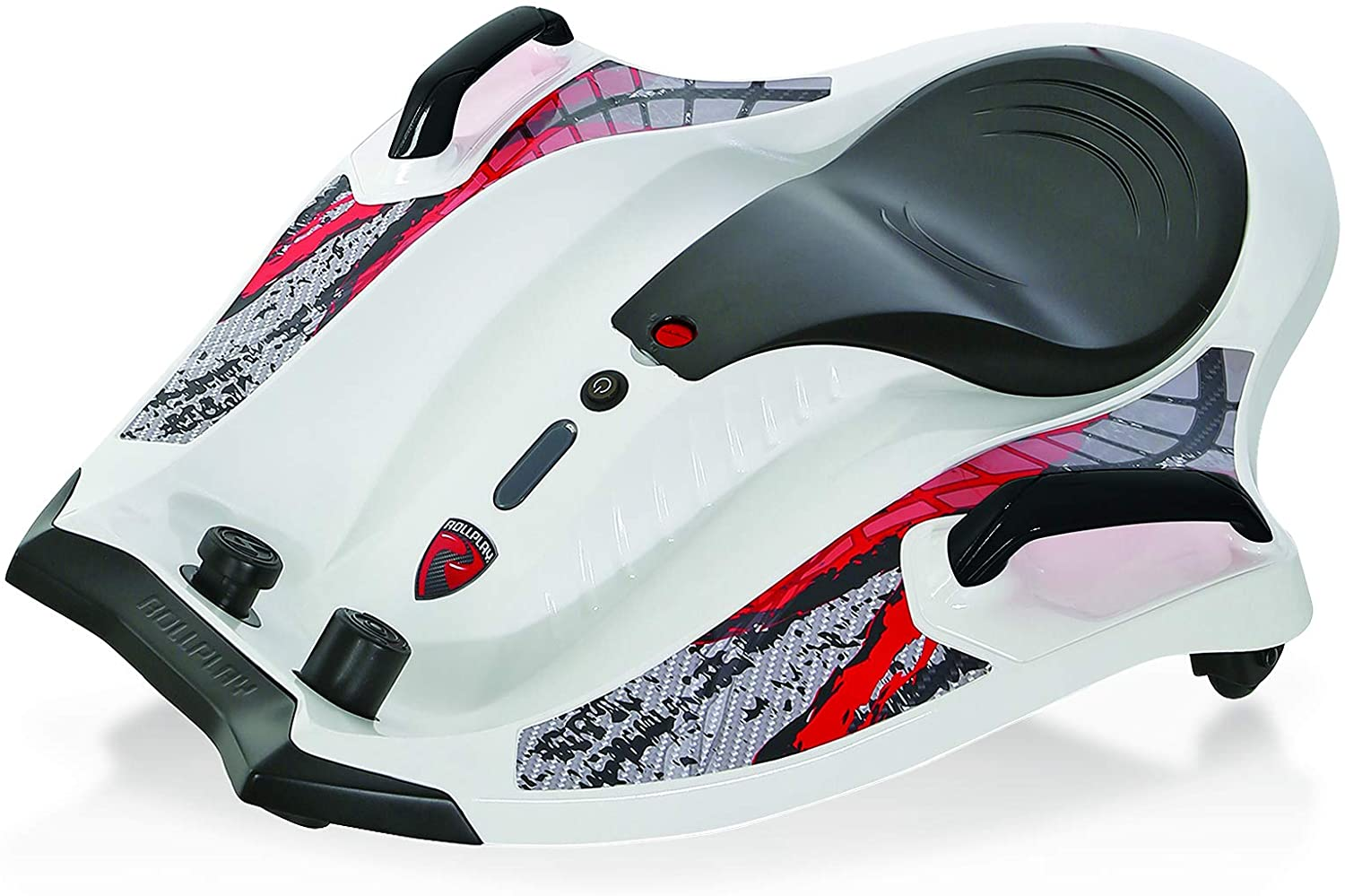Rollplay 12V Nighthawk Electric Ride-On Toy For Ages 6 & Up - Battery-Powered Kid's Ride-On For Boys & Girls Up To 6 mph- White