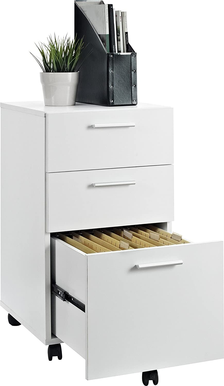 File Cabinet Amazoncom Altra Princeton Mobile File Cabinet White Kitchen