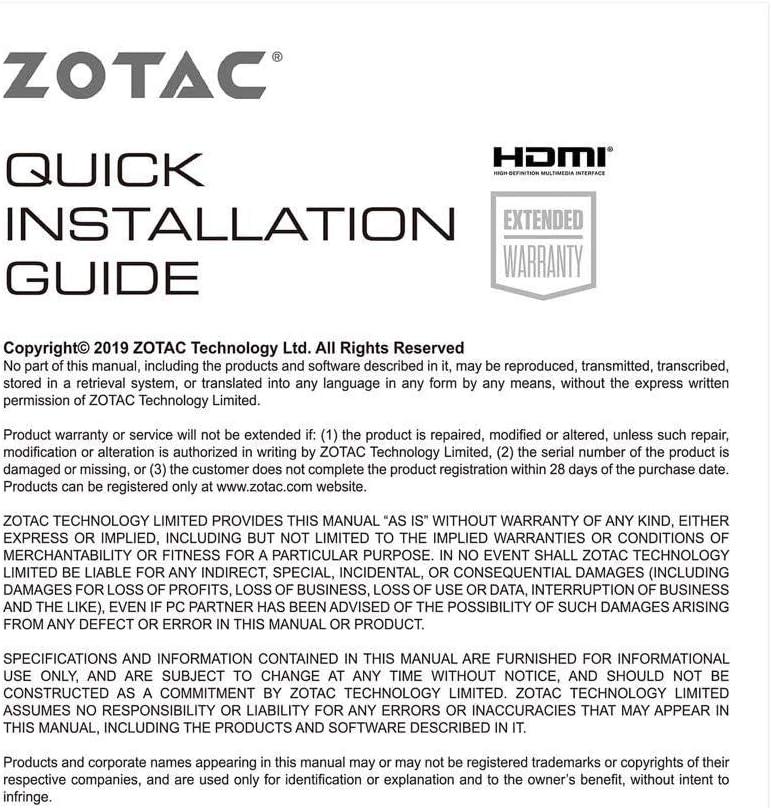 Active Fan Control Freeze Fan Stop ZT-A30600E-10M ZOTAC Gaming ...