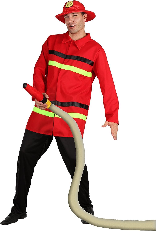 FIORI PAOLO – Bombero Disfraz Adulto Mens, color rojo, talla 52 ...