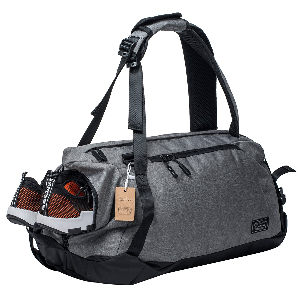 Sports Gym Bag with Shoes Compartment Travel Duffel Bag for Men and Women by Kuston
