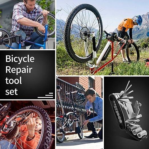 3118 Vélo Outil VIA CYCLE 11 en 1 Pliable Vélo Outil Kit de Modèle