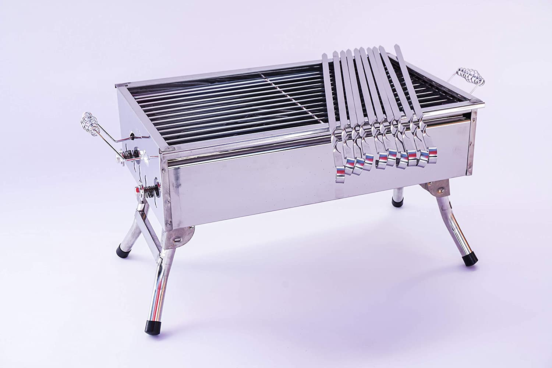 Stainless Stell Charcoal Portable Grill Mangal Shish Kebab Kabob Bbq Barbecue Shashlik Wetlif