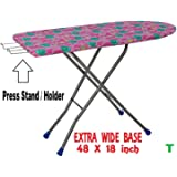 TruGood Extra Large Big Size Folding Ironing Board/Iron Table with Press Stand for Home