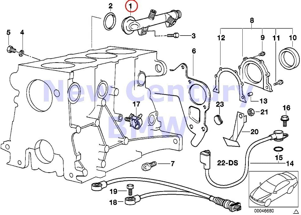 Amazon.com: BMW Genuine Cooling System Water Hoses Engine Block Mounting  Parts Connector 318i 318is 318i 318is 318ti Z3 1.9: AutomotiveAmazon.com