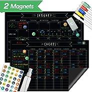 Magnetic Refrigerator Home School Chore Chart Set - 11