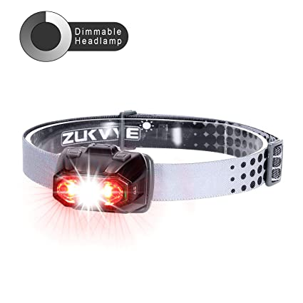 Amazon Com Zukvye Dimmable Headlamp Ultra Bright 230 Lumen White